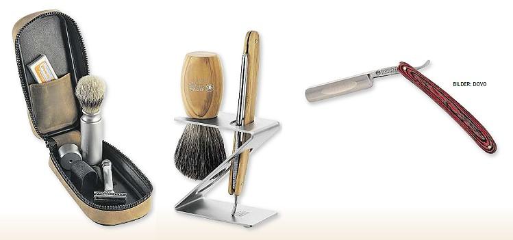 Accessoires für die kultivierte Rasur. Abbildungen: DOVO